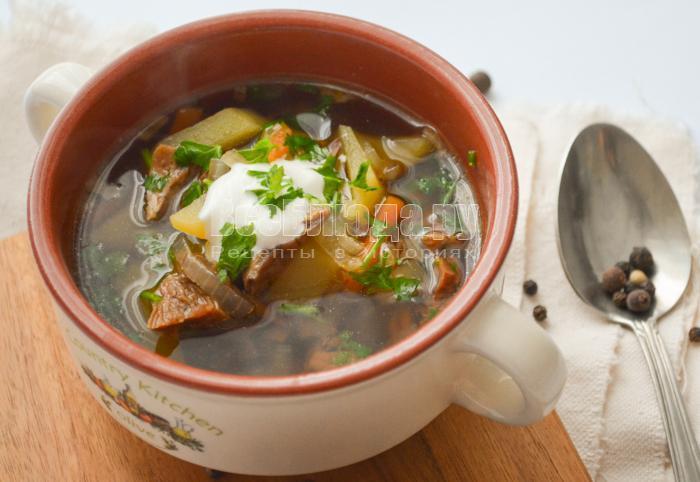суп из белых сушеных грибов рецепт с фото