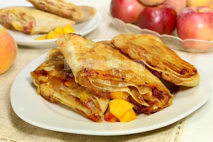 штрудель с яблоками простой рецепт с фото